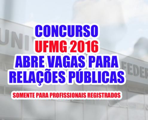 UFMG concurso rp