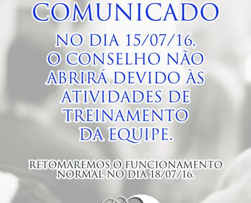 Comunicado - Conselho em treinamento